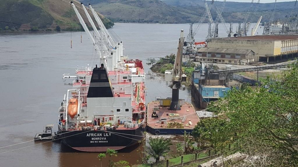 The African Lily, Seaboard's new fleet of four shallow-draft, fuel efficient bulk cargo ship made her maiden voyage in July.